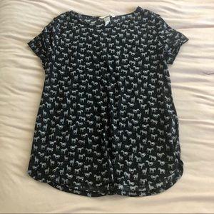 H&M Conscious Zebra Shirt